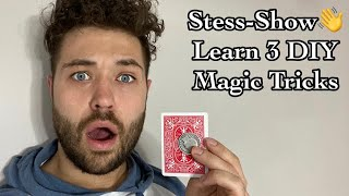 LEARN 3 EASY DIY MAGIC TRICKS AT HOME// Stess-Show Vol3// Three Magic Activities To Do At Home!