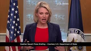 Heather nauert press briefing - courtesy u.s. department of state