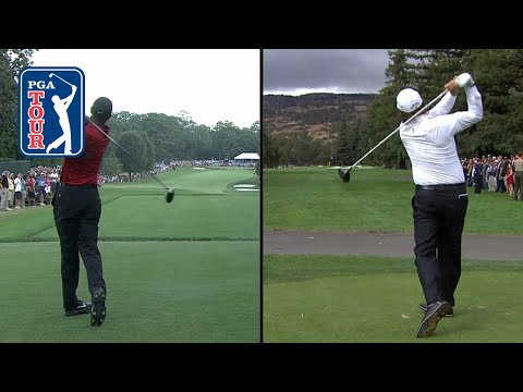 Tiger Woods and Phil Mickelson swing compilation 1991-2018 2018