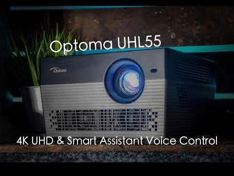Optoma UHL55 A Stunning 4K Projector with Google Assistant & Alexa Built in
