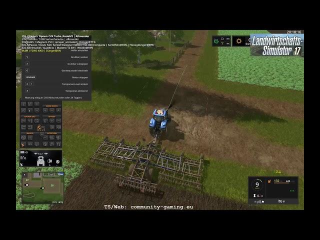 Grubbern, Säen, Düngen! | Folge #208 | Let's Play Landwirtschafts Simulator 2017
