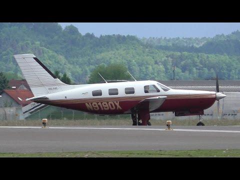 Piper PA-46-350P Malibu Mirage takeoff at Graz Airport | N9190X