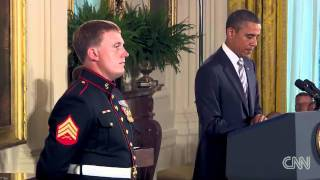 Marine receives Medal of Honor at White House - CNN
