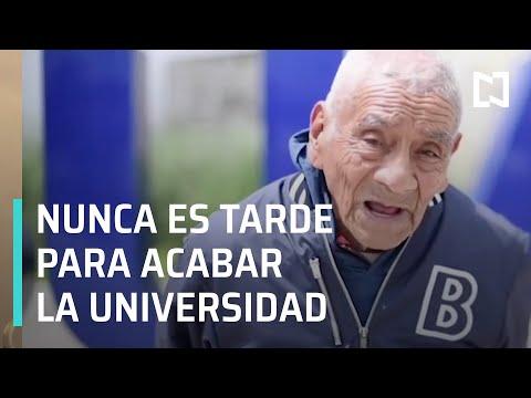 Don Felipe se gradúa a los 84 años de la BUAP - Las Noticias