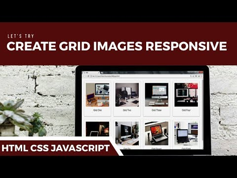 HTML CSS -  How To Create Grid Image Responsive
