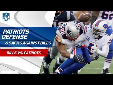 New England Defense Stuffs Buffalo w/ 6 Sacks! | Bills vs. Patriots | Wk 16 Player Highlights