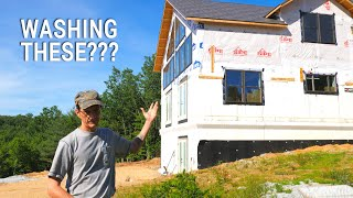 How the Heck Do We Wash These Windows?! (and a BIG OOPS!)