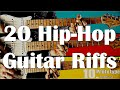 20 GREATEST Hip-Hop/R&B Guitar Riffs #1