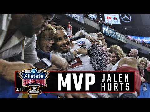 Follow Jalen Hurts as he celebrates Alabama