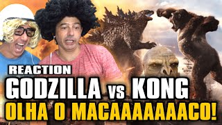 Godzilla VS Kong Reaction do Trailer 1 e Olha o Macaaaaaaco! 🎬 Irmãos Piologo Filmes