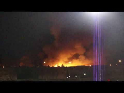again the wetlands bird sanctuary Las Vegas on fire