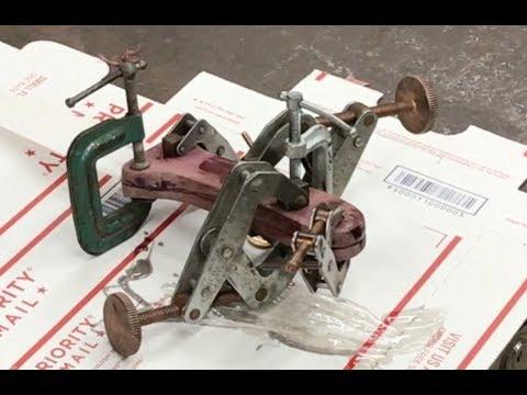 $12 DIY Ceramic and Purple Heart Knife