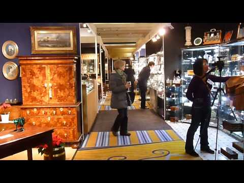 CNA (Taiwan) filming at The Mayfair Antiques & Fine Art Fair