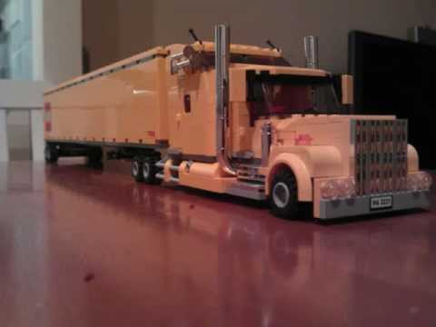 lego custom kenworth truck build guide doovi. Black Bedroom Furniture Sets. Home Design Ideas