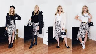ONE ITEM, FOUR SEASONS — How to Style a Leopard Print Midi Skirt (Episode #1)