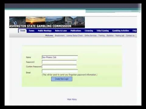 Washington State Gambling Commission Online FRE Application Training