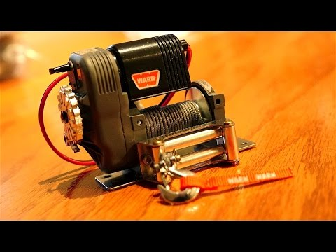 RC ADVENTURES - UNBOXiNG a 50lb Dead Lift RC4WD 1/10 WARN 8274 WiNCH & 1.9 Genius Tires Overview