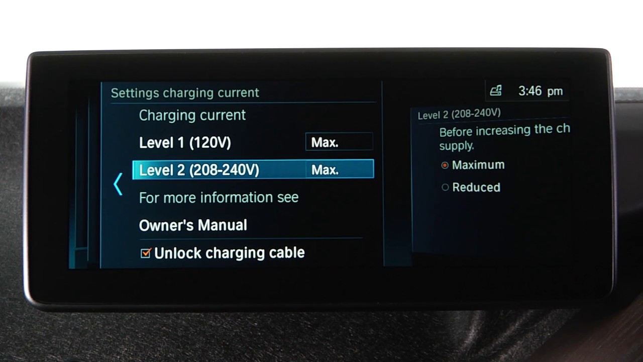 BMW i3 Charging Settings | BMW Genius How-To