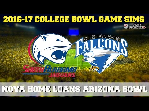 2016 Nova Home Loans Arizona Bowl Sim | South Alabama vs. Air Force (NCAA Football 14)