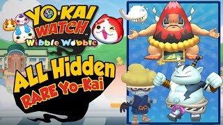 Yo-Kai Watch Wibble Wobble - ALL 8 RARE HIDDEN Yo-Kai Locations!  [iOS Android Gameplay]