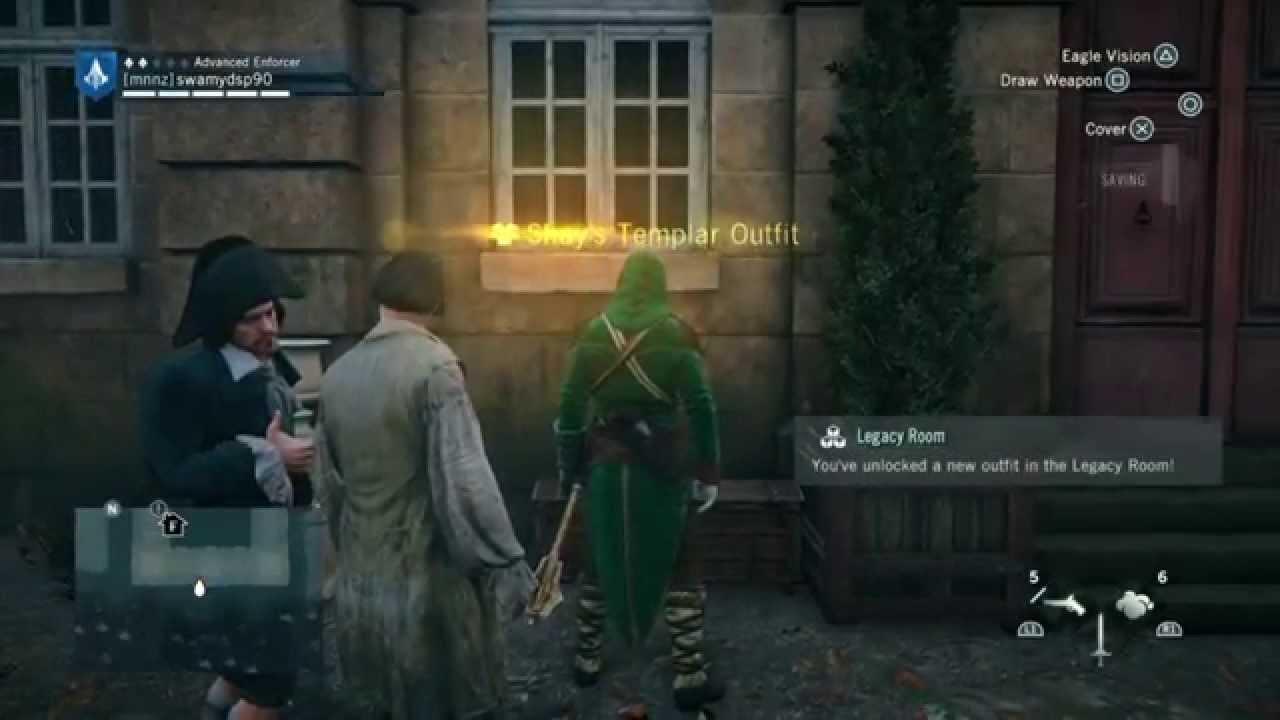 Assassin S Creed Unity Find Templar Shay S Outfit Youtube