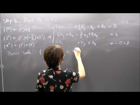 Linear Programming, Lecture 6. Simplex method: introduction.