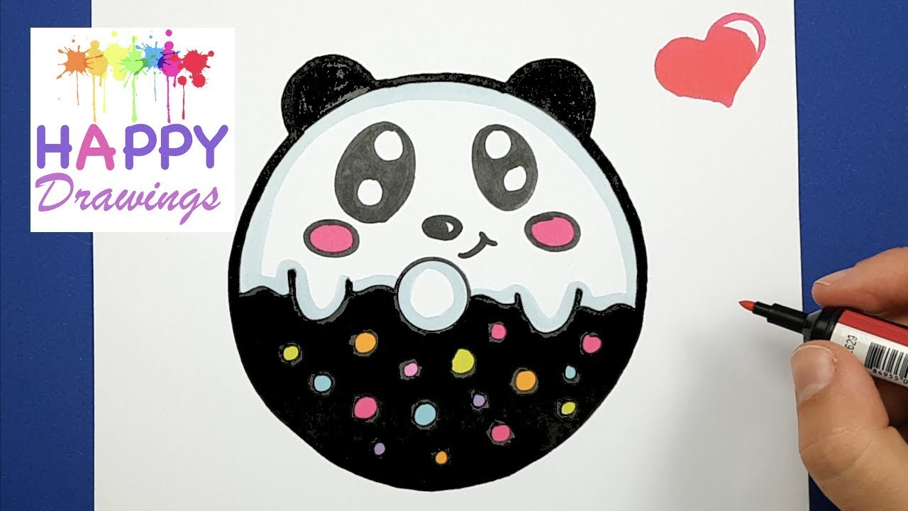 HAPPY DRAWINGS : HOW TO DRAW AND COLOR CUTE BABY PANDA ...