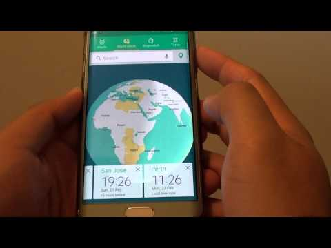 Samsung Galaxy S6 Edge: How to Add more World Clock of Other Cities