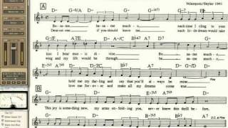 Besame Mucho playalong for Cornet Trumpet Vocal or any Bb instrument with lyrics