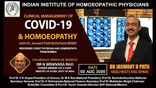 Webinar 2 August 2020 on Clinical Management of COVID-19 \u0026 Homoeopathy