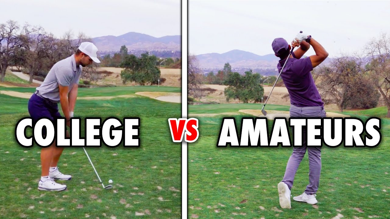 We Challenged 2 College Players!! // 3 Hole Match