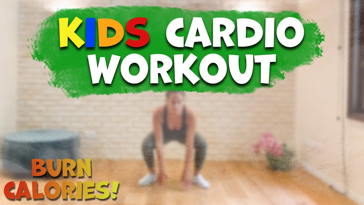 Burn calories: kids fun cardio workout - family