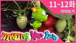 [깨미랑 부카채카] 11-12화 | 딸기가 좋아 | 멋지다, 매! | 15분 이어보기 | 연속재생 | 유아교육 | 어린이 다큐