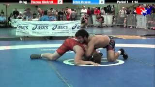 Thomas Kimbrell vs. Caleb Busson at 2013 ASICS University Nationals - FS