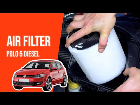 How to replace the air filter POLO 5 1.6 TDI💨