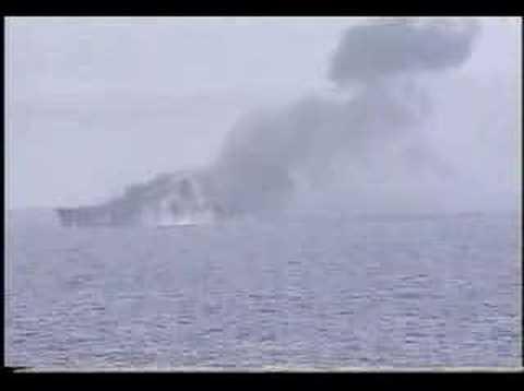 SINKEX of USS Guam (LPH-9)