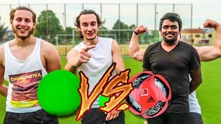 PLASTIKBALL VS ECHTER BALL FUßBALL CHALLENGE !
