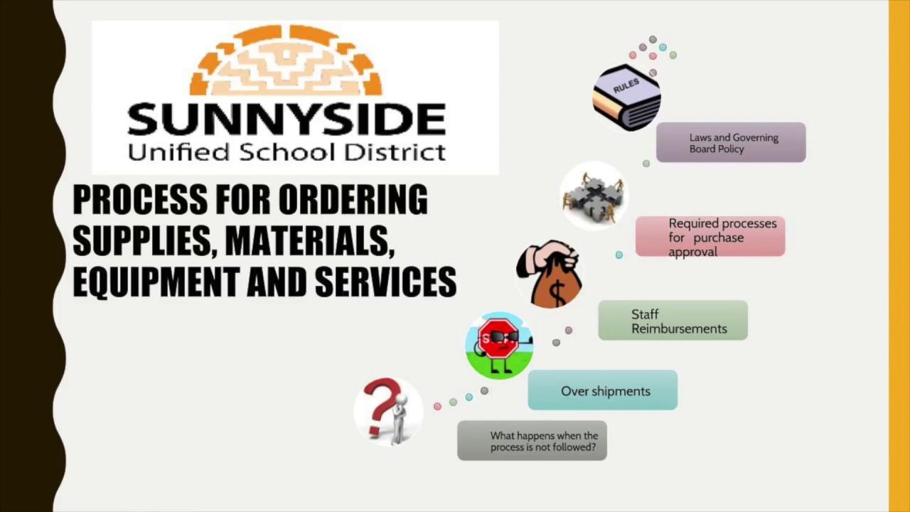 Purchasing, Warehouse & Property Control   Sunnyside Unified School