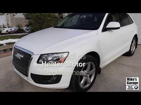 Audi Q5 Bad Heater, A/C Motor Fan (blower). How to replace/ DIY