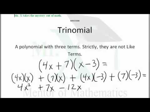 Glossary-Trinomial