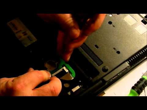 How To Remove Hard Drive And Cmos Battery From An Hp Compaq 6735b Laptop