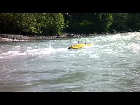 Oceanscience Z Boat 1800 with Robotic Total Station River X-Sections in Alaska 2014