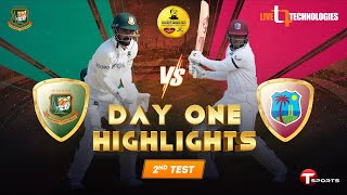 Bangladesh vs West Indies | 2nd Test Day 1 Full Highlights | West Indies tour of Bangladesh, 2021