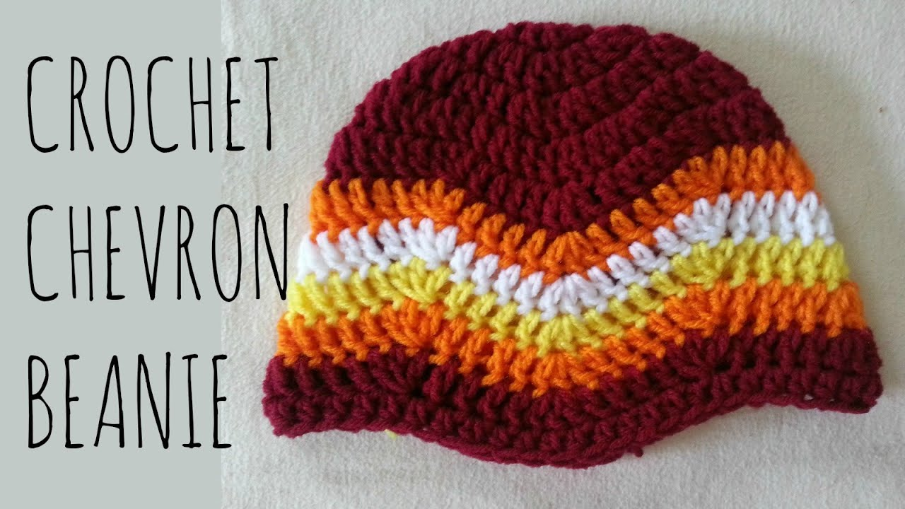 Chevron Beanie  Easy Crochet Pattern & Tutorial