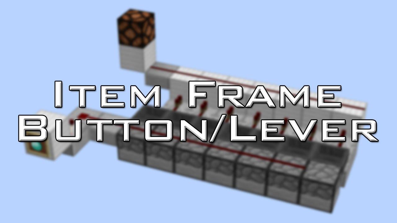 Item Frame Button/Lever | Vanilla Minecraft - YouTube