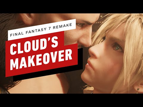 Final Fantasy 7 - Cloud's Makeover and HoneyBee Inn Dance Scene