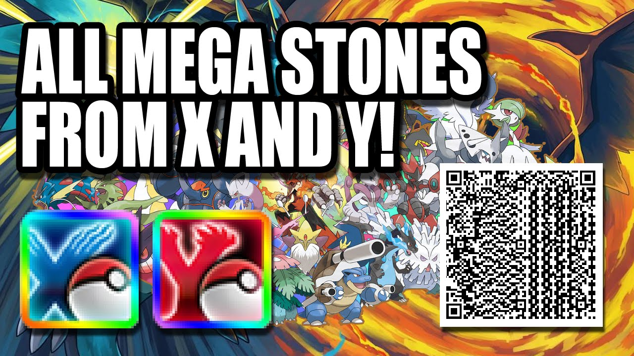 POKÉMON QR CODES - ALL MEGA STONES FROM X AND Y! - clipzui.com