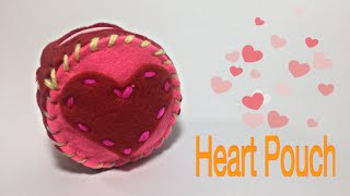 DIY HEART POUCH TUTORIAL | FELT CRAFTS KIT