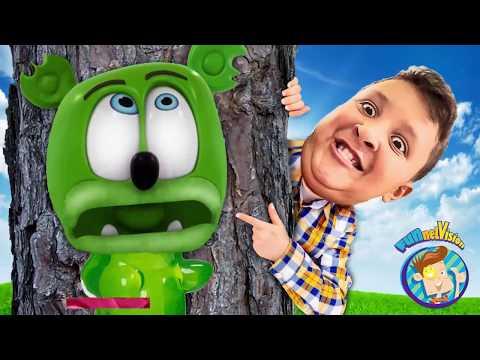 GUMMY VS  REAL LIFE HIDE & SEEK GAME   FUNnel Family Skit