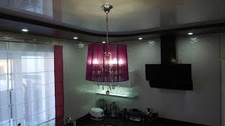 видео Двух уровневый натяжной потолок: фото и полезные советы